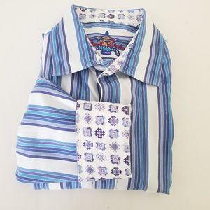 Robert Graham Stripe Shirt XLT